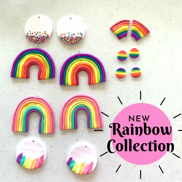 Rainbow earring collection