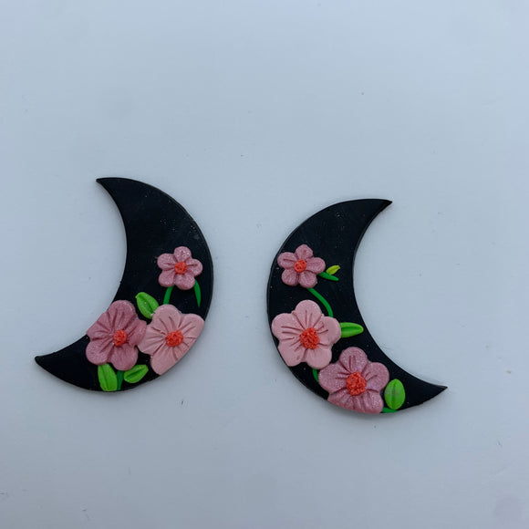 Pink floral moons
