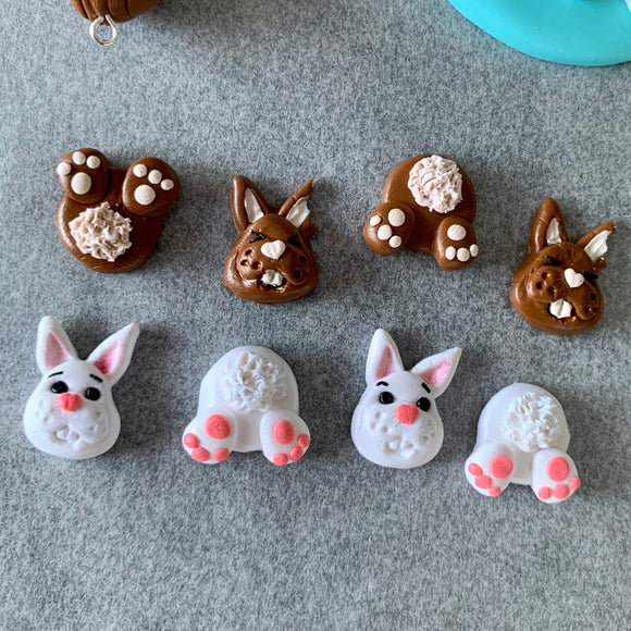 Bunny face and tail studs
