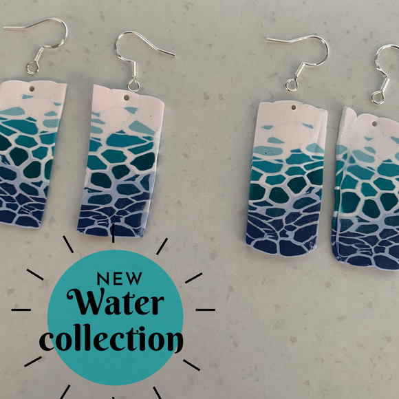 Water earring collection