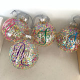 Personalised Filled Glass Christmas Bauble