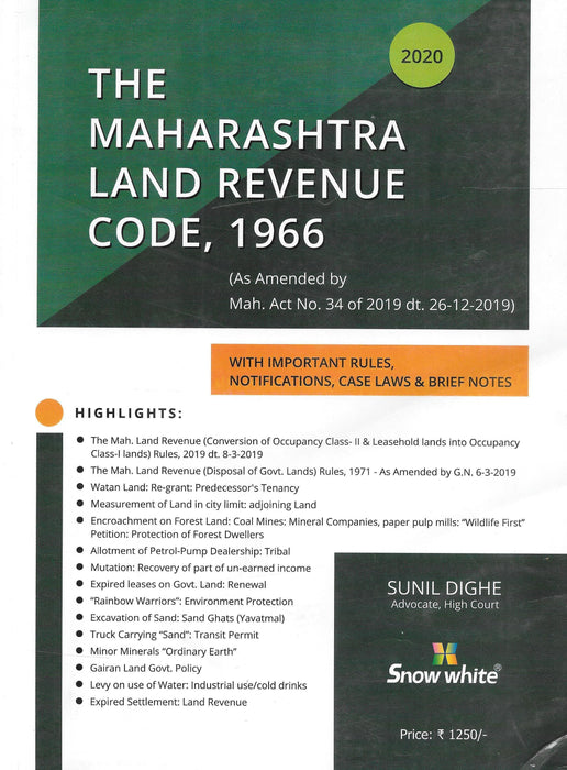 The Maharashtra Land Revenue Code, 1966 with Important Rules
