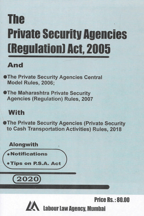 The Private Security Agencies (Regulation) Act 2005
