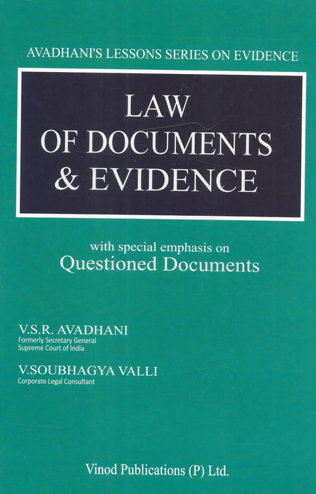 Law of Documents and Evidence by V. R. S Avadhani