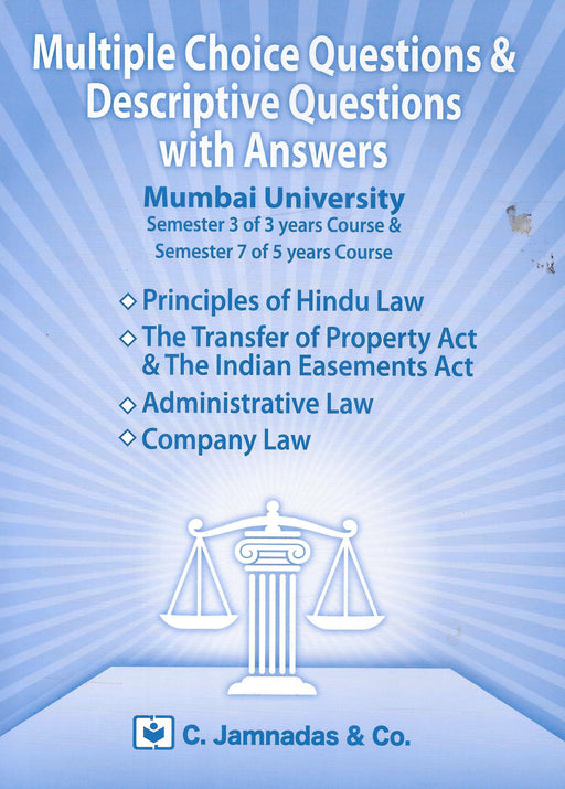 MCQs for Mumbai University LLB exams semester 3 of 3 years and Semester 7 of 5 years course