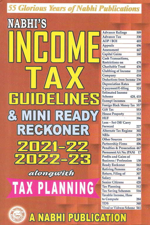 Income Tax Guidelines & Mini Ready Reckoner 2021-22 & 2022-23