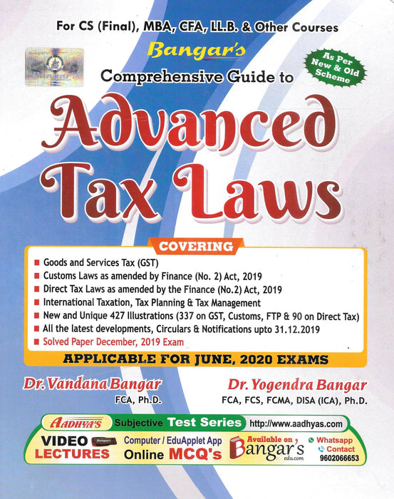 Comprehensive Guide to Advanced Tax Laws - CS Final