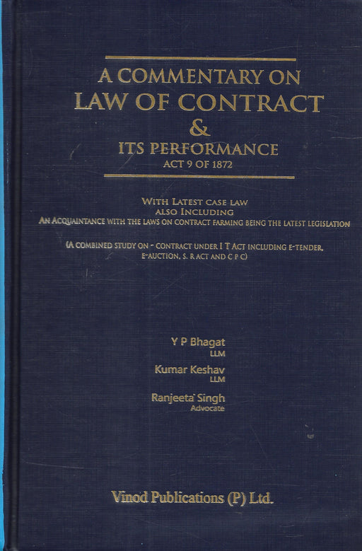 A Commentary on Law of Contract & its Performance