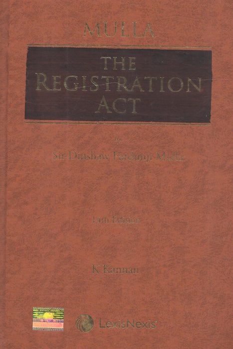 The Registration Act by Sir Dinshaw Fardunji Mulla