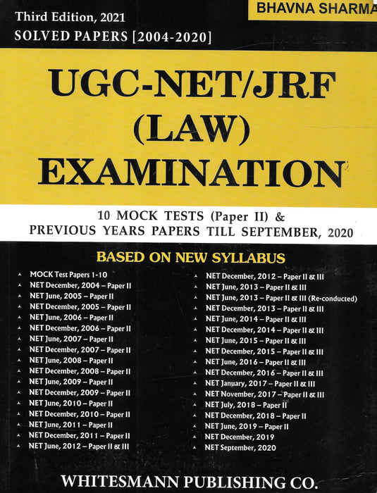 UGC- NET/JRF (Law) Examination