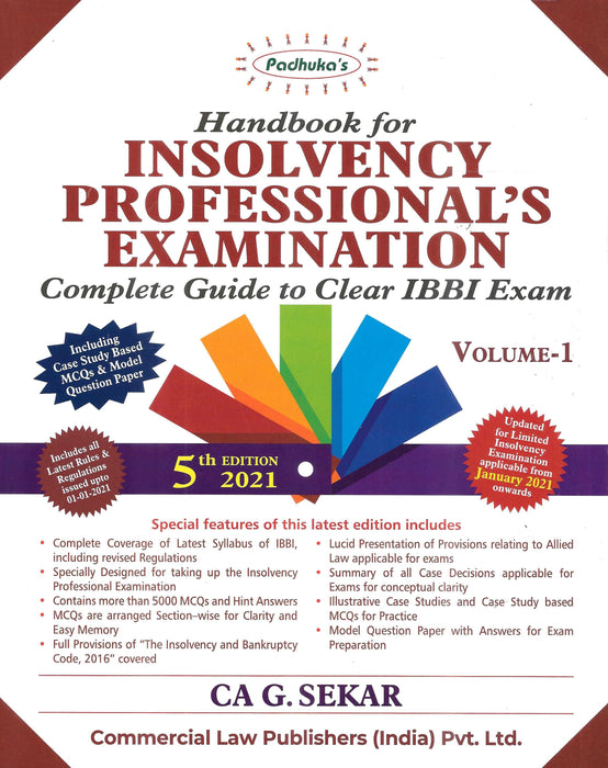 Handbook for Insolvency Professional's Examination in 2 Volumes