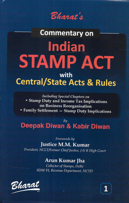 Commentary on Indian Stamp Act with Central/States Acts and Rules in 2 volumes