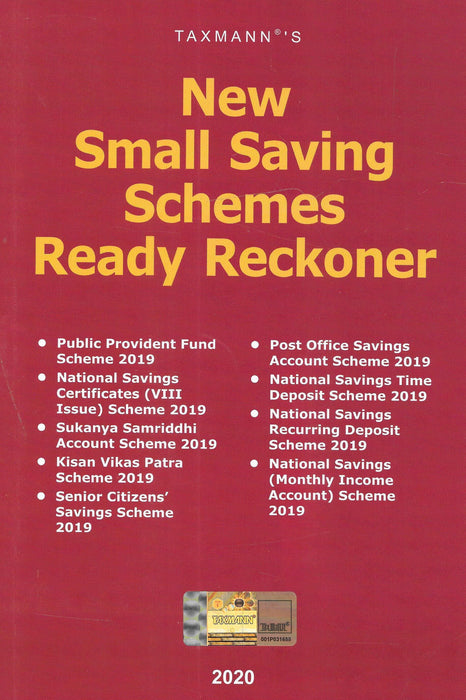 New Small Savings Schemes Ready Reckoner