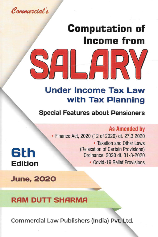 Computation of Income from Salary under Income Tax Law with Tax Planning
