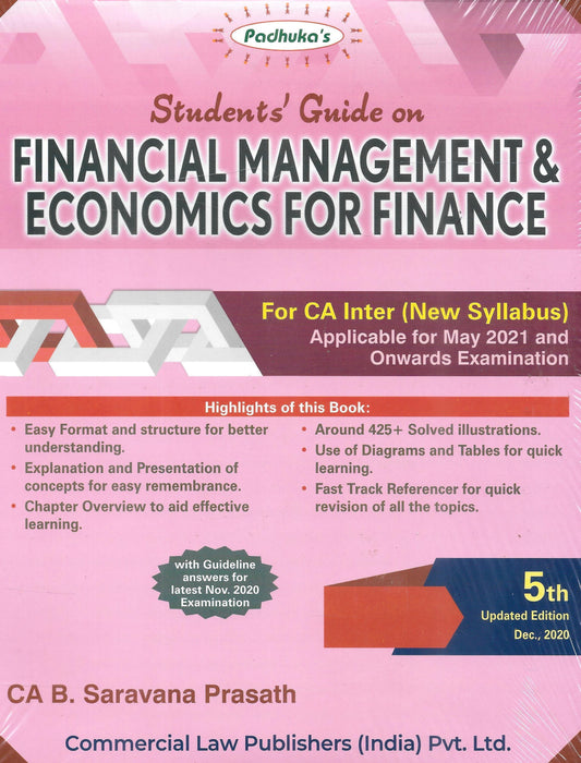 Financial Management & Economics For Finance For Ca Inter-New Syllabus