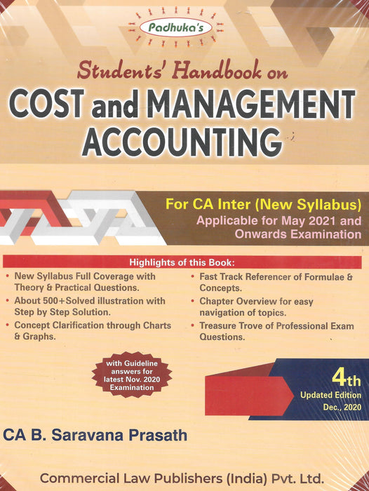 Cost And Management Accounting For CA Inter- New Syllabus