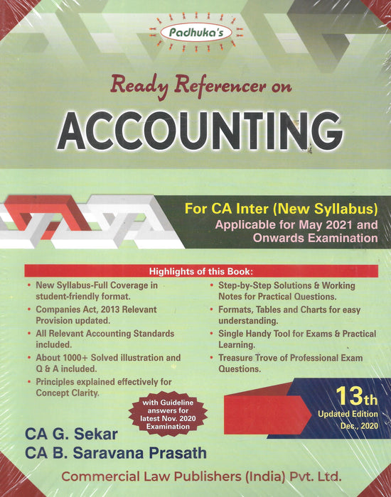 Padhuka Ready Referencer on Accounting