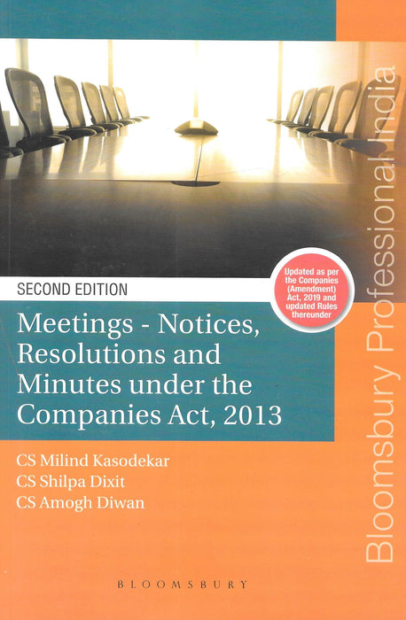 Meetings-Notices, Resolutions and Minutes under the Companies Act 2013