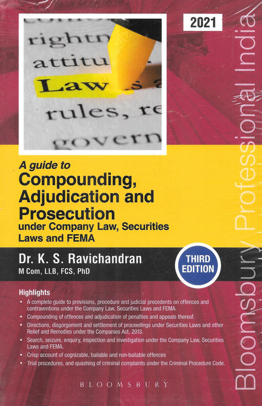 Guide to Compounding, Adjudication and Prosecution Under Company Law, Securities Laws and FEMA