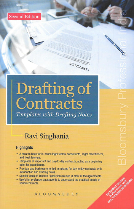 Drafting of Contracts - Templates with Drafting Notes - Ravi Singhania