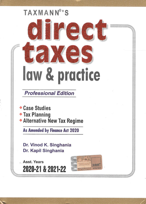 Direct Taxes Law & Practice - As Amended by Finance Act 2020