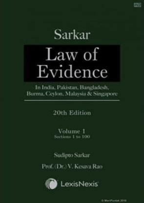 Sarkar on Law of Evidence in 2 volumes