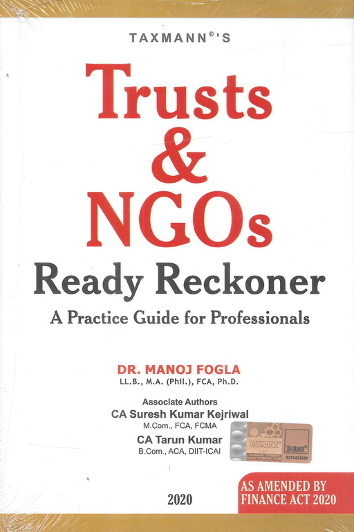 Trusts and NGOs Ready Reckoner A Practical Guide for Professionals