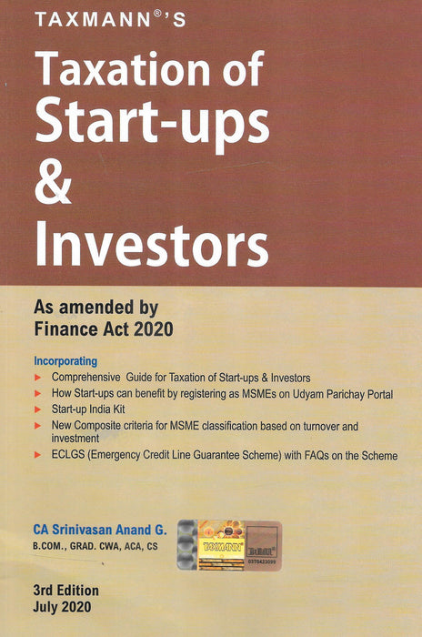 Taxation of Start-Ups & Investors as amended by Finance Act 2020