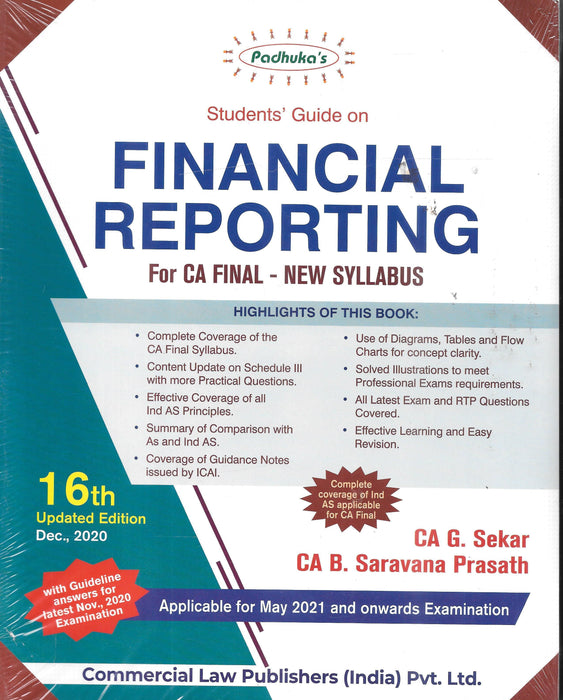 Students' Guide On Financial Reporting-CA Final