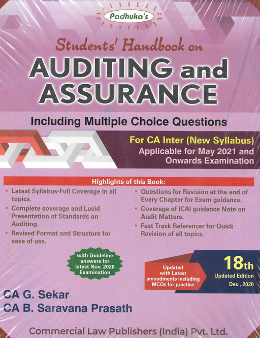 Auditing And Assurance Including Multiple Questions For CA Inter - New Syllabus