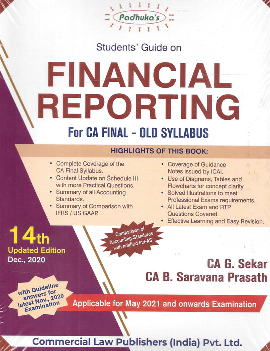 Financial Reporting For CA Final Old Syllabus