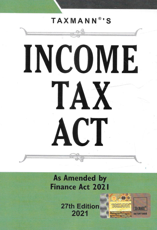 Income Tax Act (Pocket) As Amended by Finance Act 2021