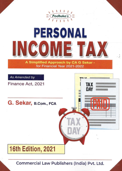 Personal Income Tax for Financial Year 2021-22