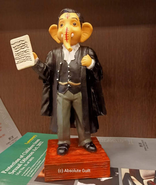 Lord Ganesha as Lawyers