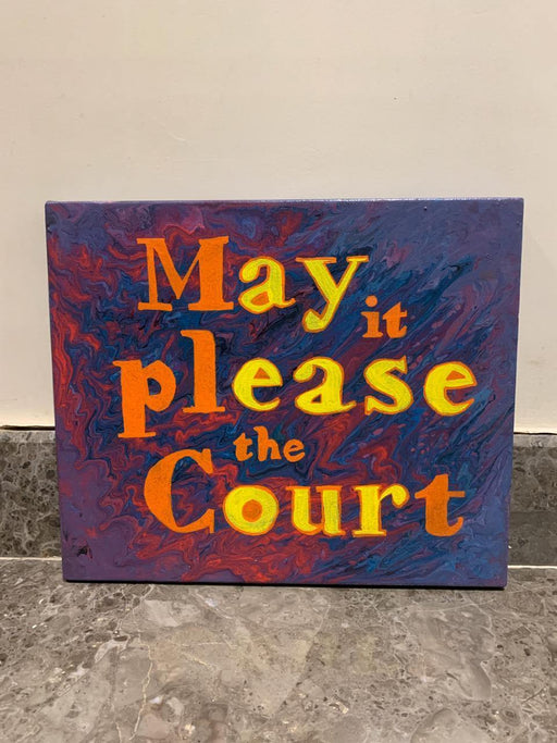 May It Please the Court - Wall Hanging