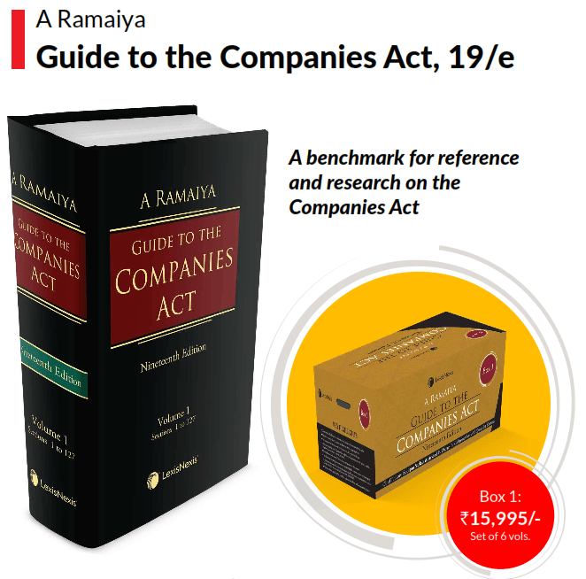 A. Ramaiya Guide to Companies Act in 6 parts.