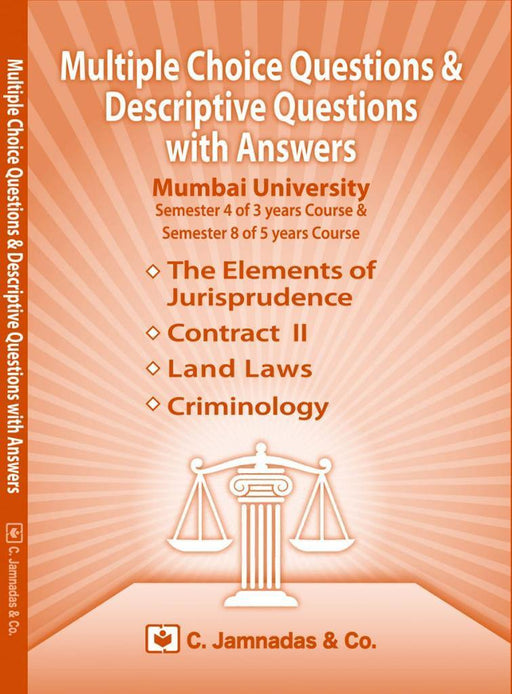 Multiple Choice Questions(MCQs) and Descriptive Questions (DQs) with Answers - Semester 4 of 3 years and Semester 8 of 5 years course