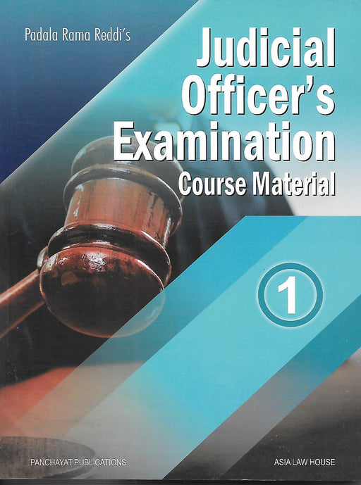 Judicial Officers Examination Course Material in 4 vols.