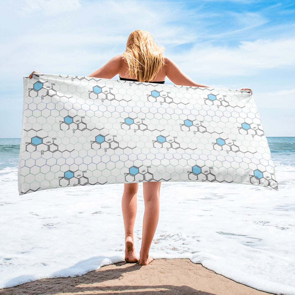 CBD Molecule Bath and Beach Towel
