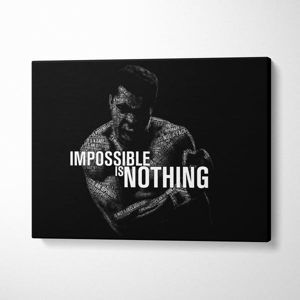 Muhammad Ali - Imposible is nothing - CANVASTYLES-CREA LA CASA DEI TUOI SOGNI