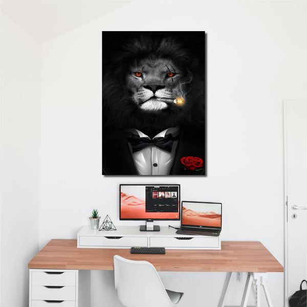Tablou Canvas Leu in Costum - CANVASTYLES -  Tablouri Canvas Motivaționale