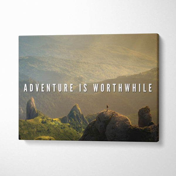Tablou Adventure is worthwile - CANVASTYLES -  Tablouri Canvas Motivaționale