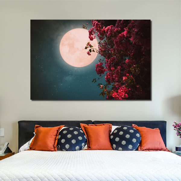 Tablou Canvas Full Flower Moon - CANVASTYLES -  Tablouri Canvas Motivaționale