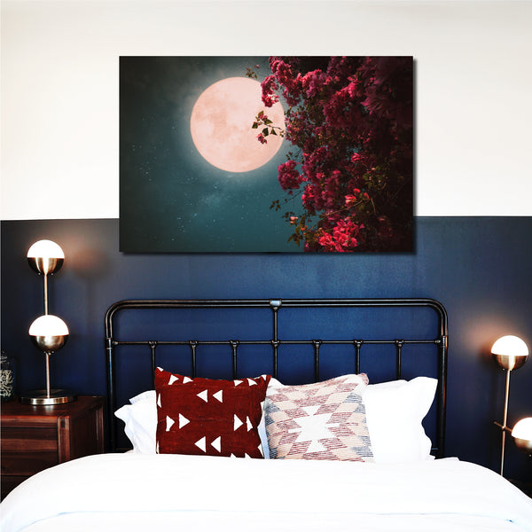 Tablou Canvas Full Flower Moon - CANVASTYLES-CREA LA CASA DEI TUOI SOGNI