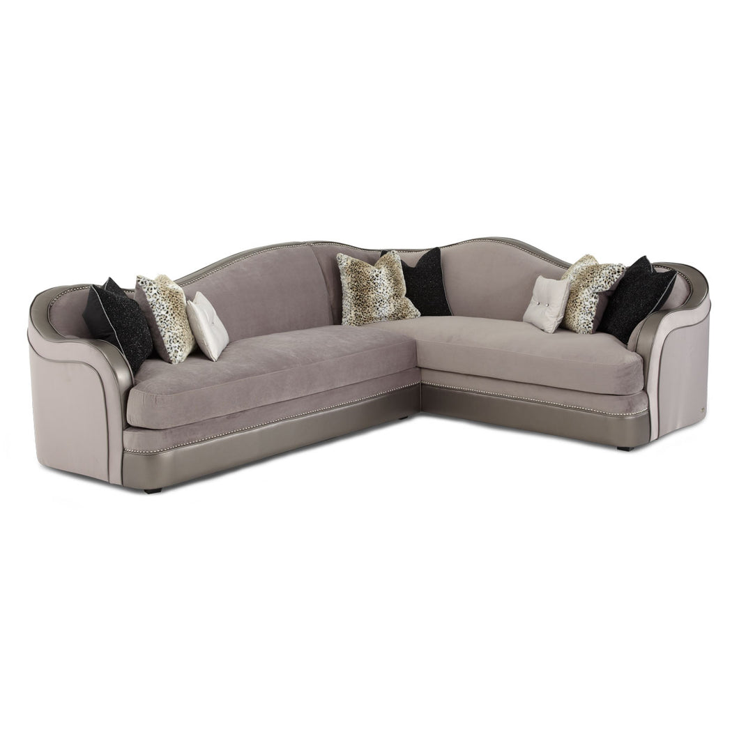 HOLLYWOOD SWANK Sectional Set (2 Pcs) - Dreamart Gallery