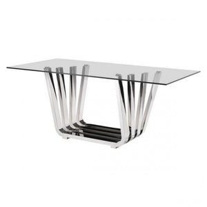 Fan Dining Table Chrome - Dreamart Gallery