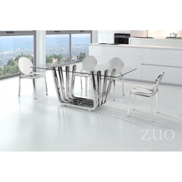 Fan Dining Table Chrome - Dream art Gallery