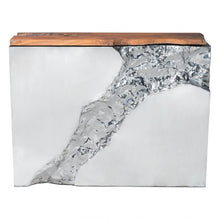 Load image into Gallery viewer, Luxe Console Table Natural & Stainless Steel - Dreamart Gallery