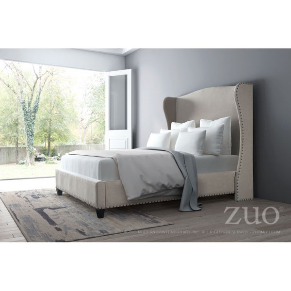 Enlightenment Queen Bed Beige - Dream art Gallery
