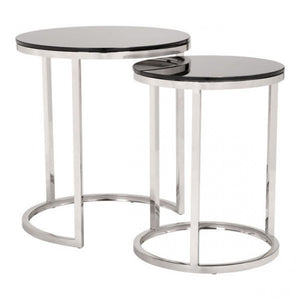 Rem Coffee Table Sets Black & Stainless - Dream art Gallery